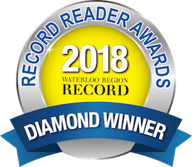 2018 Waterloo Region Record Diamond Winner Award